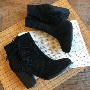 4c96057321e H M Fringe Boots on Poshmark